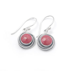 Coral earring bali silver