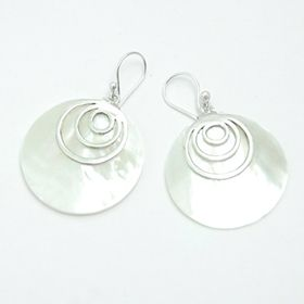 Bali silver shell earring wholesaler