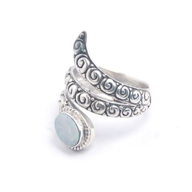 Opal ring bali silver jewelry H