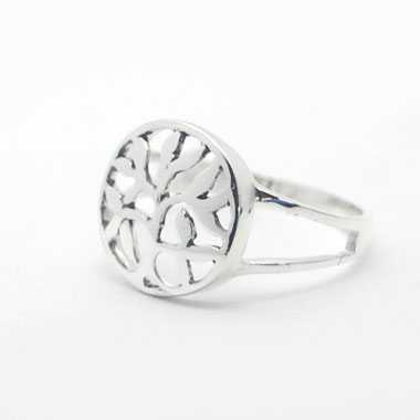 Bali tree of life ring silver jewelry unique