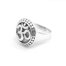 Om ring bali silver jewelry